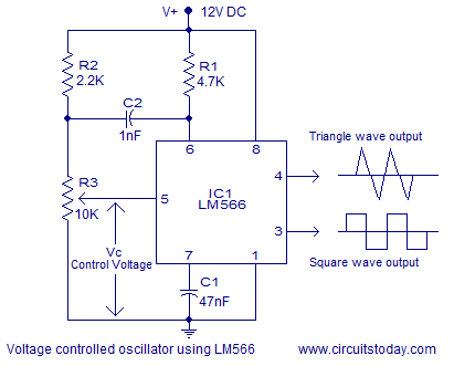 Miraculous Voltage Controlled Oscillator Vco Theory And Working Lm566 Ic Ranpur Mohammedshrine Wiring Digital Resources Ranpurmohammedshrineorg