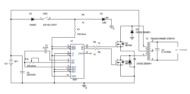 Outstanding Simple 100W Inverter Circuit Diagram And Its Working Electronics Ranpur Mohammedshrine Wiring Digital Resources Ranpurmohammedshrineorg