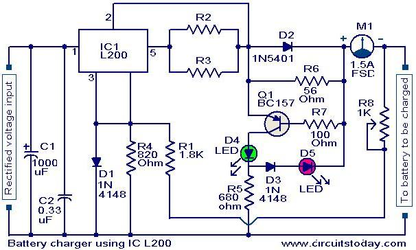 Astounding Battery Charger Circuit Using L200 Electronic Circuits And Ranpur Mohammedshrine Wiring Digital Resources Ranpurmohammedshrineorg