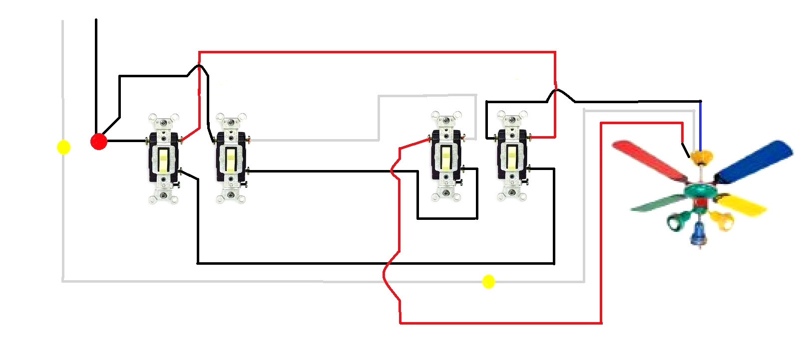 Fabulous Wiring Diagram For 3 Way Switch Table Fan Diagram Dibujos Para Ranpur Mohammedshrine Wiring Digital Resources Ranpurmohammedshrineorg