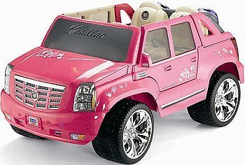 Brilliant Amazon Com Power Wheels Barbie Pink Cadillac Escalade Toys Games Ranpur Mohammedshrine Wiring Digital Resources Ranpurmohammedshrineorg