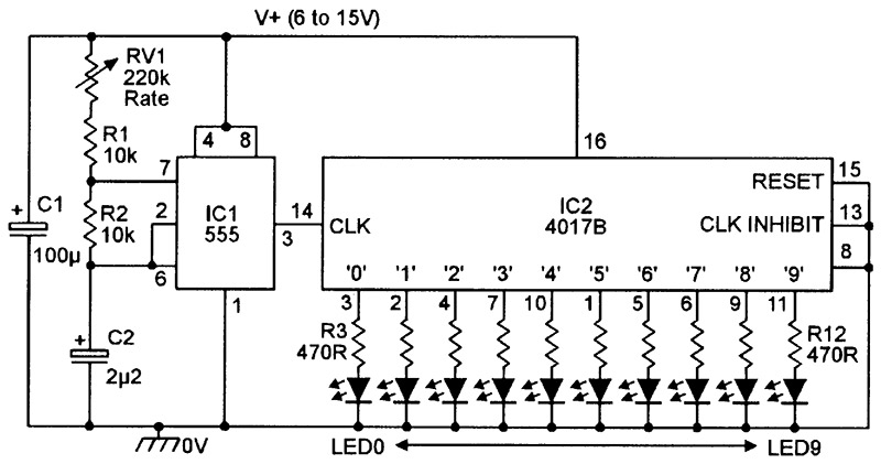 Excellent Led Chaser Sequencer Circuits Nuts Volts Magazine Ranpur Mohammedshrine Wiring Digital Resources Ranpurmohammedshrineorg