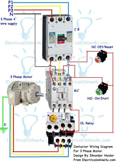 Miraculous Contactor Wiring Guide For 3 Phase Motor With Circuit Breaker Ranpur Mohammedshrine Wiring Digital Resources Ranpurmohammedshrineorg
