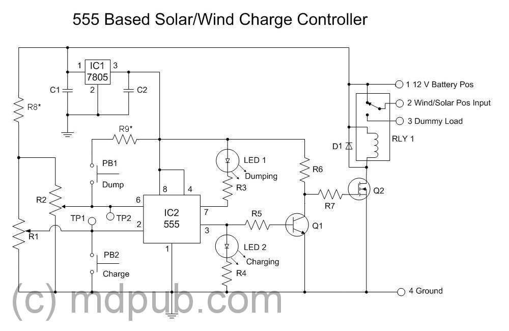 Surprising A New Solar Wind Charge Controller Based On The 555 Chip Ranpur Mohammedshrine Wiring Digital Resources Ranpurmohammedshrineorg
