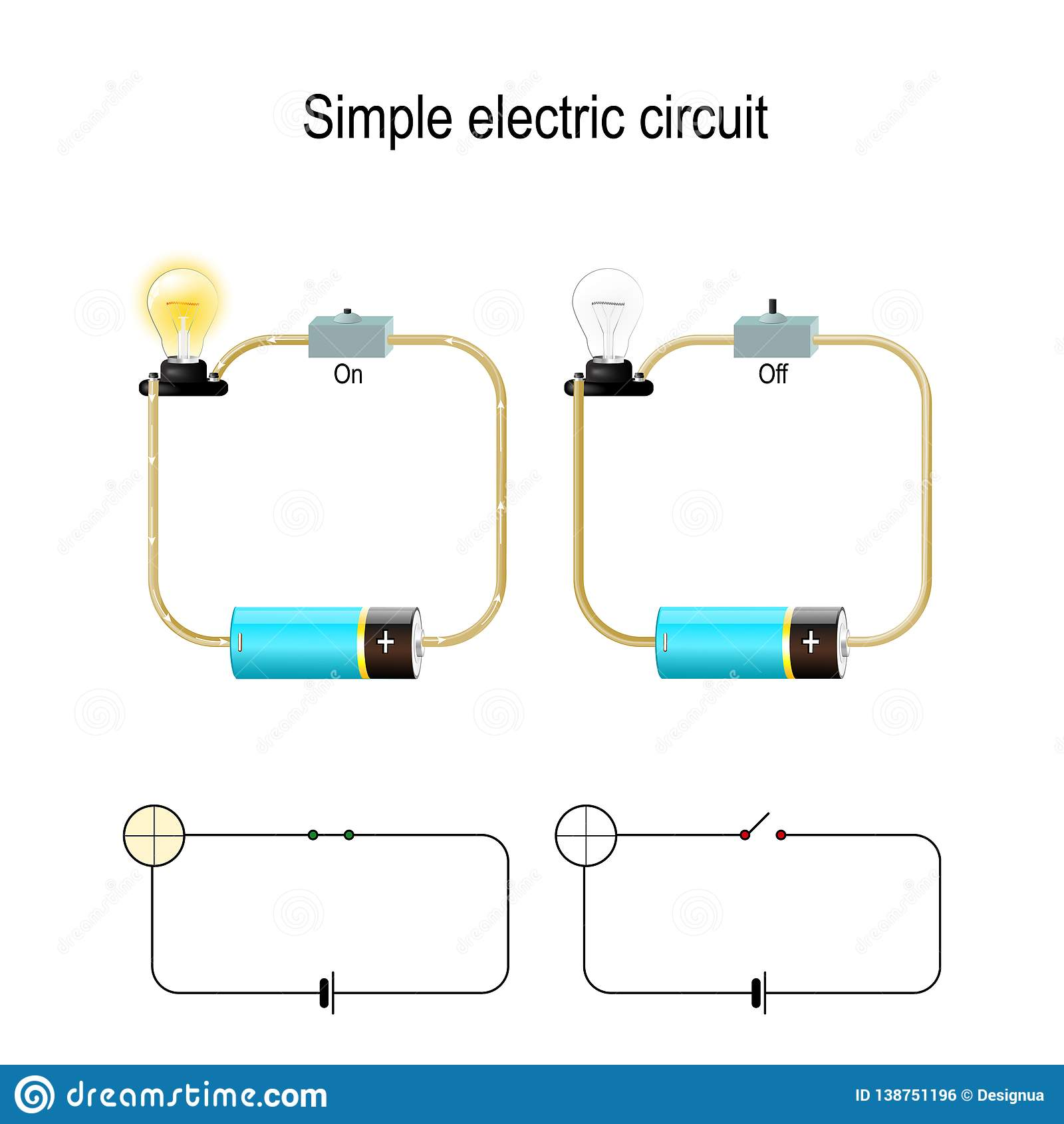 Outstanding Simple Electric Circuit Electrical Network And Lighting Lamp Stock Ranpur Mohammedshrine Wiring Digital Resources Ranpurmohammedshrineorg