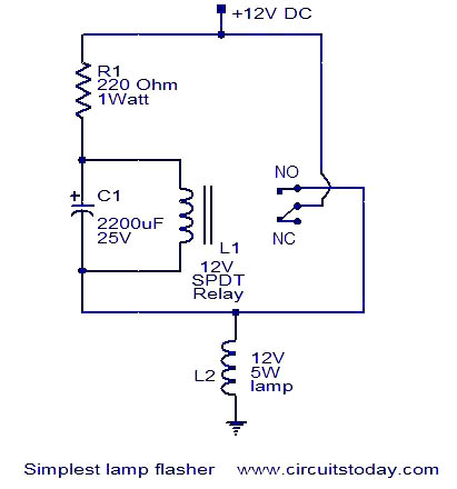 Strange Simplest Lamp Flasher Circuit Electronic Circuits And Diagrams Ranpur Mohammedshrine Wiring Digital Resources Ranpurmohammedshrineorg