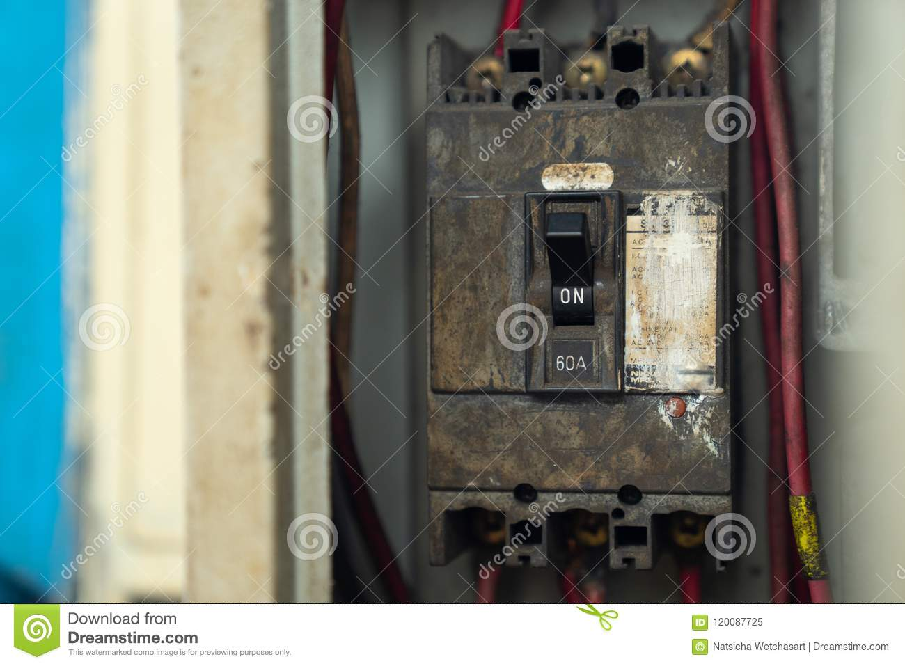 Awesome Old And Dirty Breakers Switch In Electric Box Circuit Breakers Ranpur Mohammedshrine Wiring Digital Resources Ranpurmohammedshrineorg