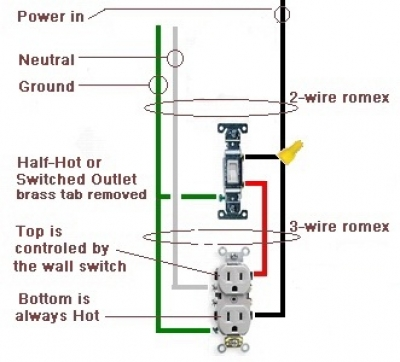 Astonishing How To Wire A Switched Outlet Half Hot Outlet Ranpur Mohammedshrine Wiring Digital Resources Ranpurmohammedshrineorg