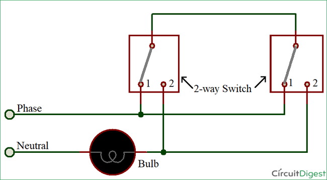 Awe Inspiring How To Connect A 2 Way Switch With Circuit Diagram Ranpur Mohammedshrine Wiring Digital Resources Ranpurmohammedshrineorg