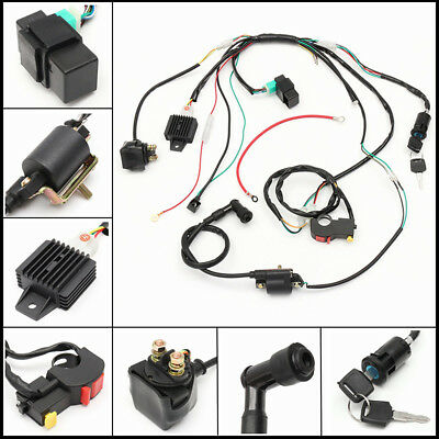Super Full Wiring Loom Harness Electric Start Engine Quad Bike Replacement Ranpur Mohammedshrine Wiring Digital Resources Ranpurmohammedshrineorg