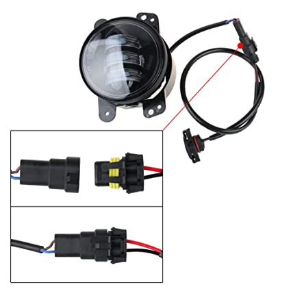 Excellent Amazon Com Led Fog Lights Lamp Adapter Wires For 2010 And Up Jeep Ranpur Mohammedshrine Wiring Digital Resources Ranpurmohammedshrineorg