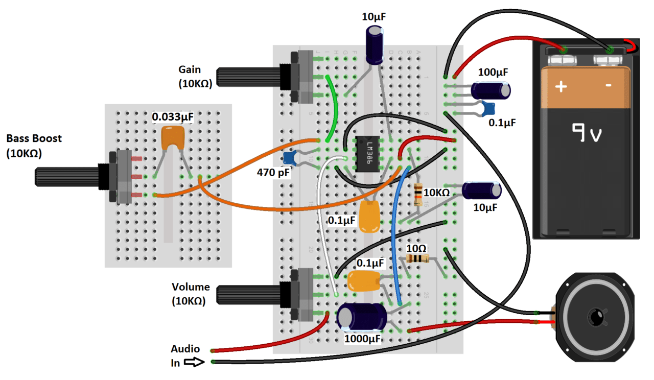 Cool Build A Great Sounding Audio Amplifier With Bass Boost From The Lm386 Ranpur Mohammedshrine Wiring Digital Resources Ranpurmohammedshrineorg