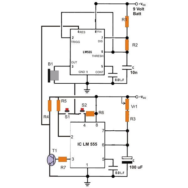Peachy Simple Ic 555 Eng Timer With Buzzer Circuit Diagram Electronic Ranpur Mohammedshrine Wiring Digital Resources Ranpurmohammedshrineorg