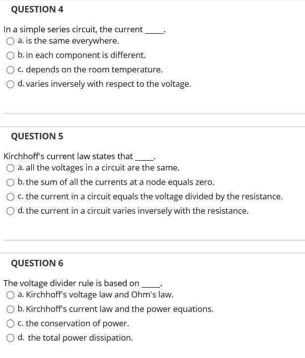 Astounding Solved Question 4 In A Simple Series Circuit The Current Ranpur Mohammedshrine Wiring Digital Resources Ranpurmohammedshrineorg